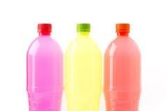 Bouteilles de boissons non alcoolisées Images libres de droits