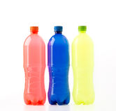 Bouteilles de boissons non alcoolisées Image stock