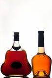 Bouteilles de cognac image stock