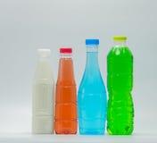 Bouteilles de conception moderne de boisson non alcoolisée et de lait de soja Photos libres de droits