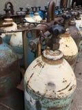 Bouteilles de gaz Image libre de droits