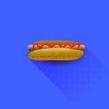 Bouteilles de ketchup et de moutarde à l'arrière-plan illustration de vecteur