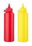 Bouteilles de ketchup et de moutarde Photo libre de droits