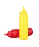 Bouteilles de ketchup et de moutarde Image stock