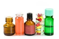 Bouteilles de médecine Image stock