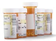 Bouteilles de médecine avec l'espace de copie Photos libres de droits