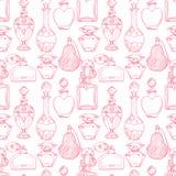Bouteilles de parfum des femmes sans couture illustration de vecteur
