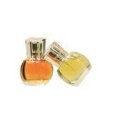 Bouteilles de parfum sur le fond blanc Images libres de droits