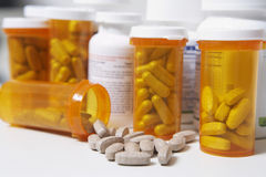 Bouteilles de pilule Photos libres de droits