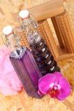 Bouteilles de produit de beauté Photo stock