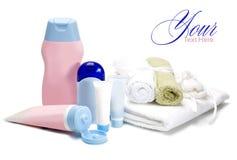 Bouteilles de produits de beauté Image stock