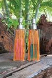 Bouteilles de savon liquide Photographie stock