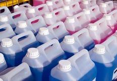 bouteilles de screenwash Photographie stock