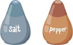 Bouteilles de sel et de poivre Photo libre de droits