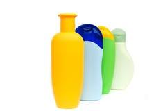 Bouteilles de shampooing Photo stock