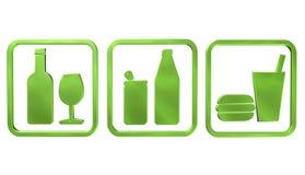 Bouteilles de vecteur de boissons Photos libres de droits