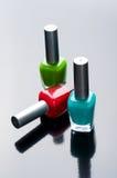 Bouteilles de vernis à ongles Photos libres de droits