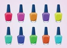 Bouteilles de vernis à ongles Image libre de droits