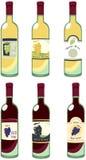 Bouteilles de vin illustration libre de droits