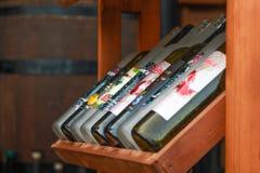Bouteilles de vin Photographie stock libre de droits