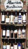 Bouteilles de vin blanc Photo stock