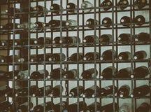 Bouteilles de vin D'isolement photos stock