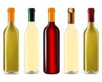 Bouteilles de vin dans la rangée Image libre de droits