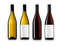 Bouteilles de vin réglées Photo libre de droits