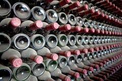 Bouteilles de vin rouge Images libres de droits