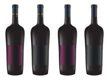 Bouteilles de vin rouge Image libre de droits