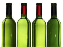 Bouteilles de vin vides image libre de droits