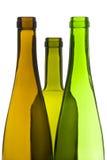 Bouteilles de vin vides images stock