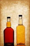 Bouteilles de whiskey Photo stock