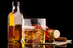 Bouteilles de whiskey photos libres de droits