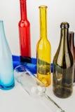 Bouteilles en verre colorées Images stock