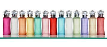 Bouteilles en verre de parfum Photos libres de droits