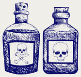 Bouteilles en verre de poison Photo stock