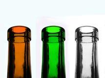 Bouteilles en verre de Recycable Photographie stock libre de droits