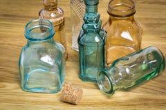 Bouteilles en verre de vintage Images libres de droits