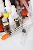 Bouteilles et tablettes médicales Photo libre de droits