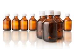 Bouteilles médicales Image stock