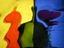 Bouteilles multicolores Photographie stock libre de droits