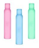 Bouteilles pour les pulvérisateurs cosmétiques Photo libre de droits
