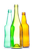 Bouteilles vides de vin et à bière Images stock