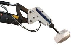 Bouteur de construction et briseur hydraulique d'isolement avec le clipp photos libres de droits