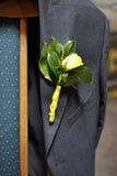 boutineer mężczyzna różany s kostium Obrazy Stock