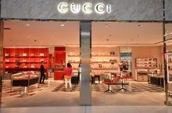 Boutiqie de Gucci en el aeropuerto de Suvarnabhumi Fotografía de archivo libre de regalías