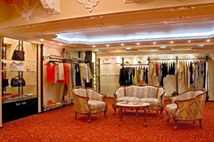 Boutique. Interior of a fashionable boutique Royalty Free Stock Image