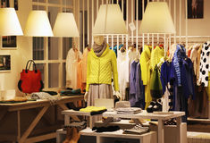 Boutique. View of a boutique interior Stock Images