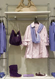 Boutique. Fashion boutique with women's clothes Stock Image